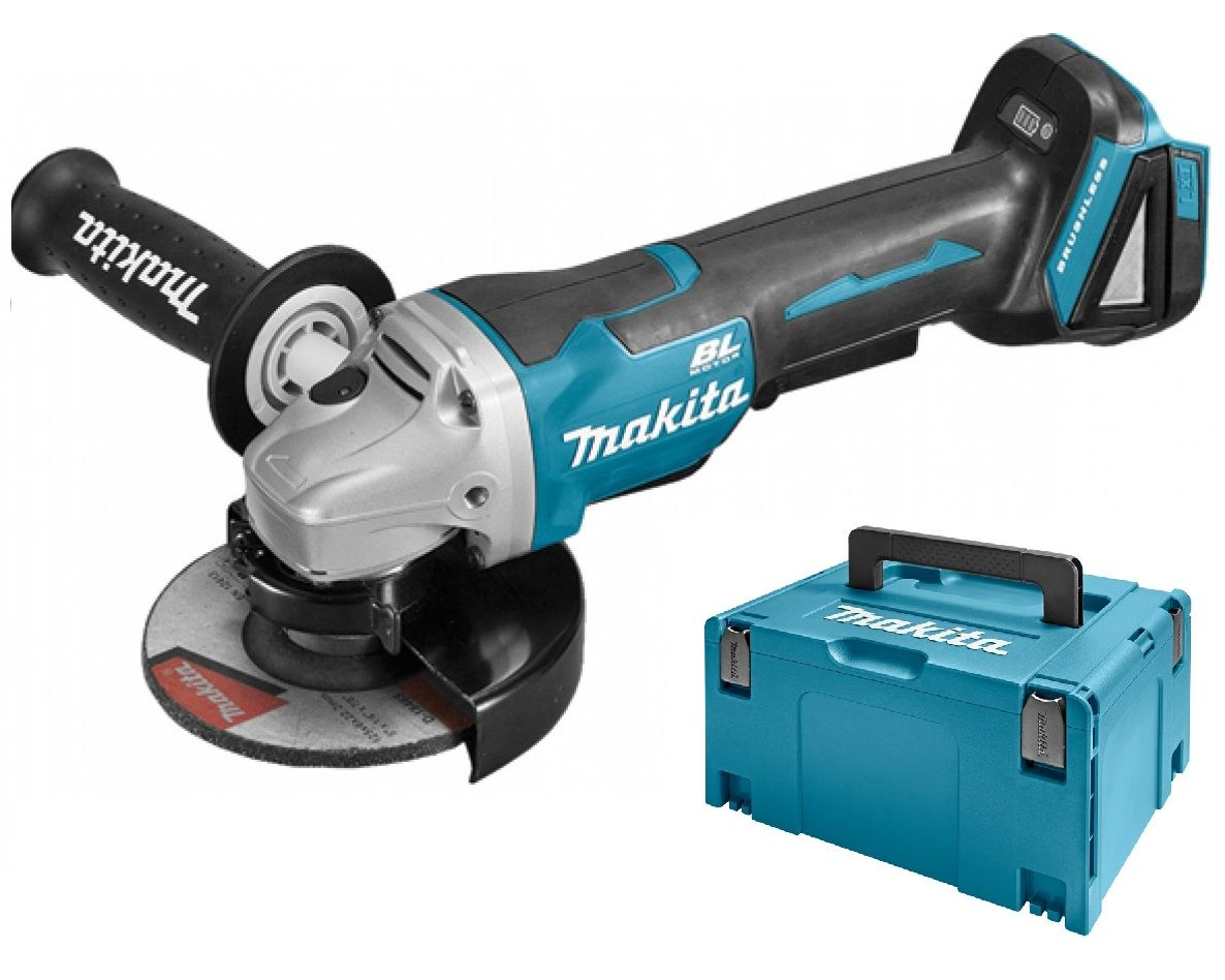Slijptol Makita Makita Dga505zj 18v Li Ion Accu Haakse Slijper Body In Mbox 125mm Koolborstelloos Softstart