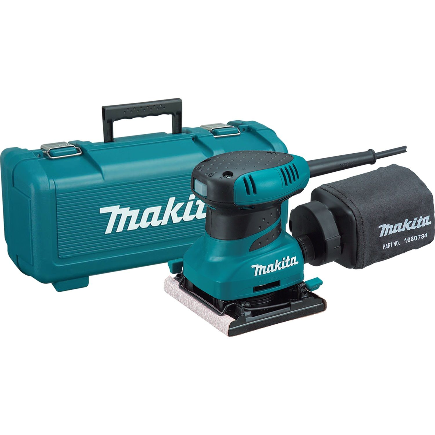 Makita Vlakschuurmachine Bo4565k Makita Bo4556k Vlakschuurmachine In Koffer 200w 112 X 102mm