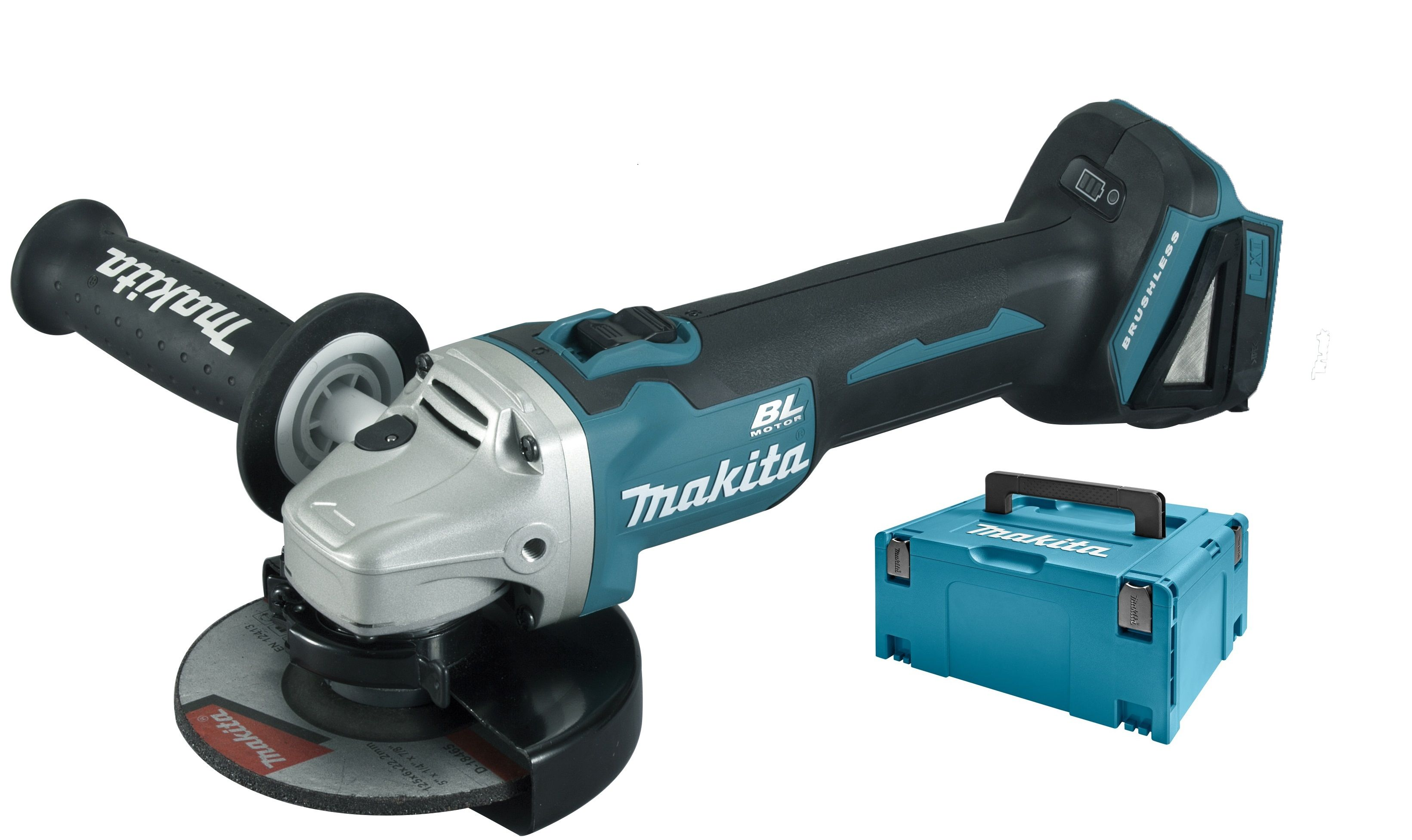 Hitachi Slijptol Accu Makita Dga504zj 18v Li Ion Accu Haakse Slijper Body In Mbox 125mm Koolborstelloos
