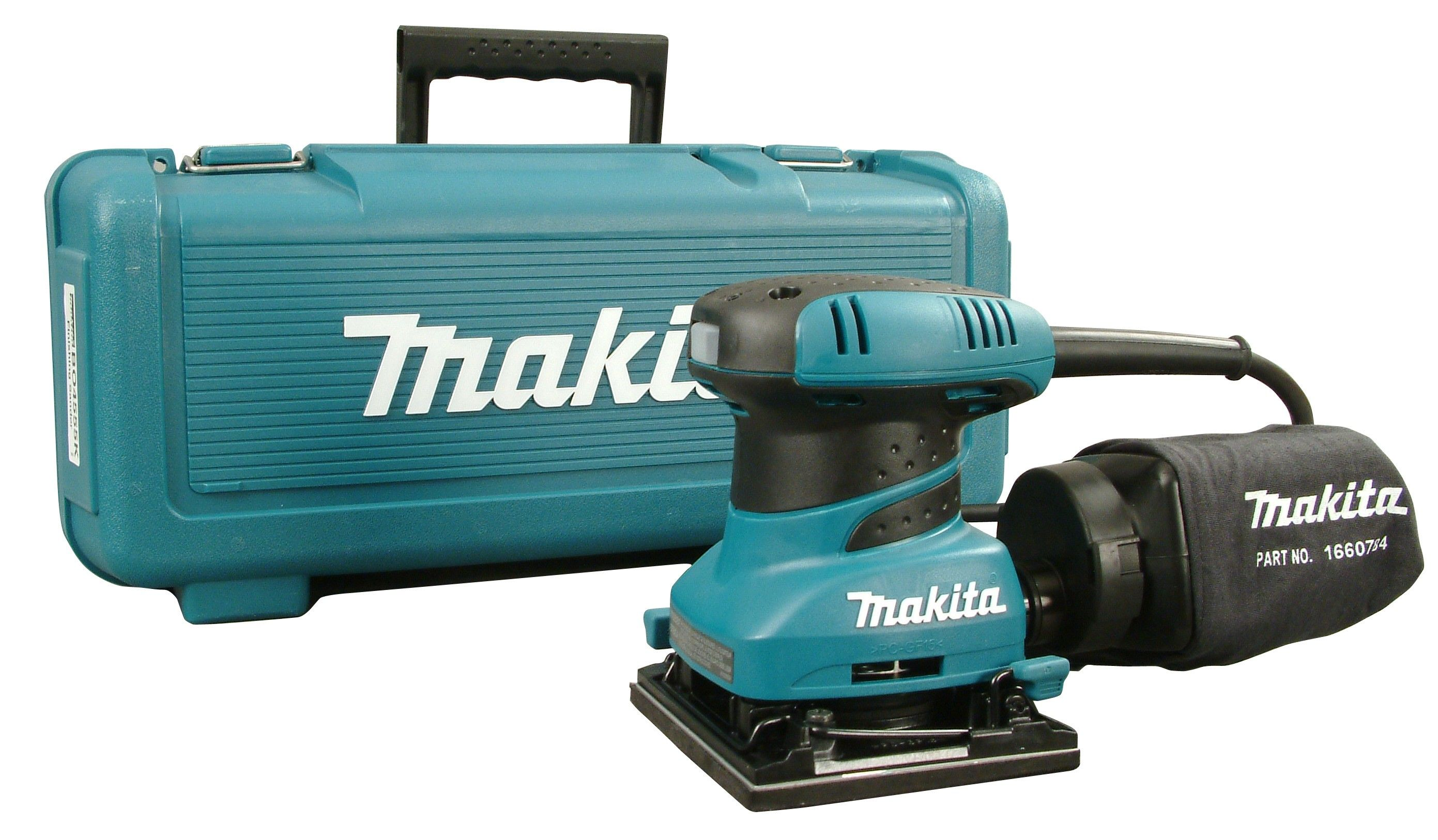 Makita Vlakschuurmachine Bo4565k Makita Bo4555k Vlakschuurmachine In Koffer 200w 112 X 102mm