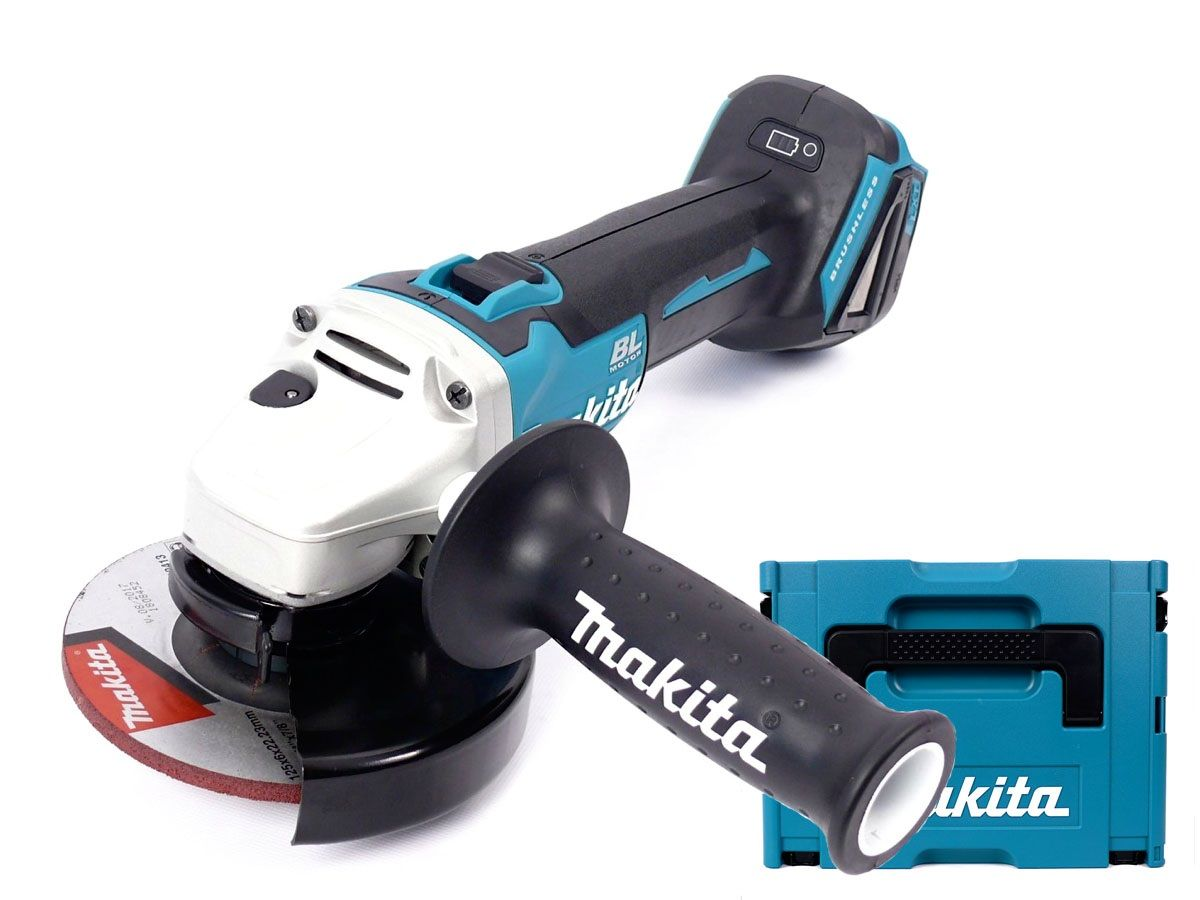 Hitachi Slijptol Accu Makita Dga506zj 18v Li Ion Accu Haakse Slijper Body In Mbox 125mm Koolborstelloos Softstart