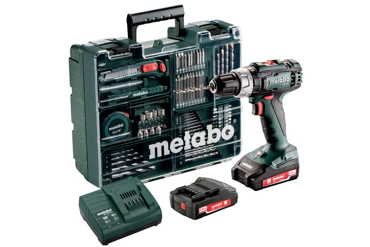 Accu Voor Boormachine Kopen Metabo Sb 18 L Mobile Workshop 18v Li Ion Accu Klop Boormachine Set 2x 2 0ah Accu In Koffer 50nm Incl 73 Delige Accessoires Set 602317870