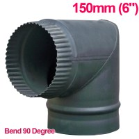 "Chimney Flue Pipe 150mm 6"" For Wood Burning Log Burner"