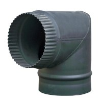 "5"" 6"" Matt Black Chimney Flue Pipe For Wood Log Burning"