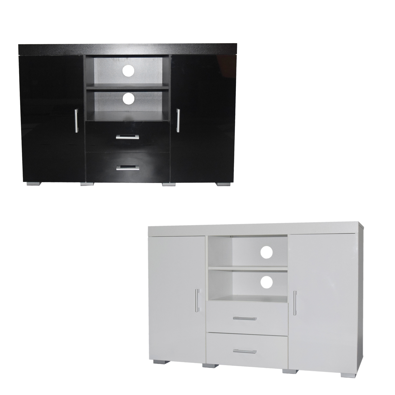White Gloss Drawers Tall Black Gloss White Tv Stand Entertainment Centre