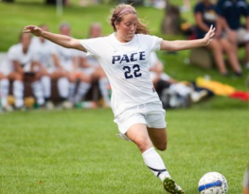 Pace Women's soccer team wins their home opener against St. Thomas Aquinas