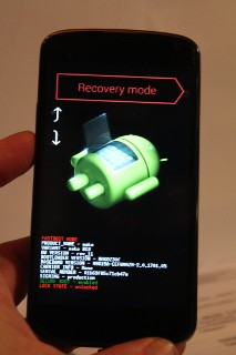 nexus4 bootloader to recovery