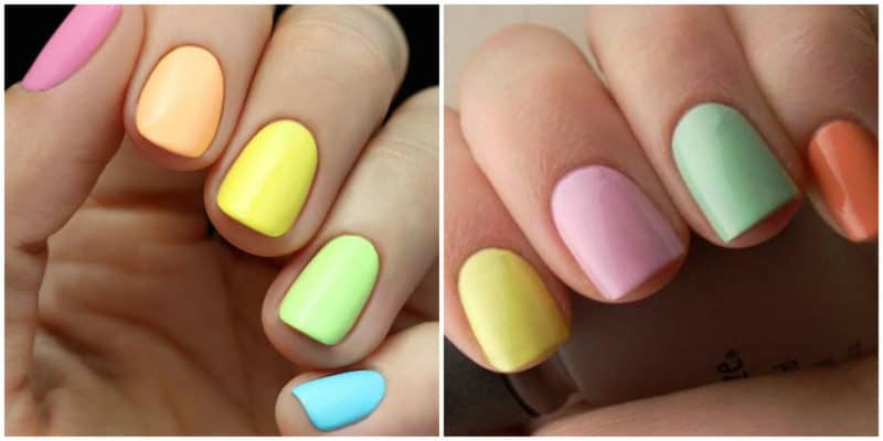 Bright Color Nail Designs Best Hairstyles 2018