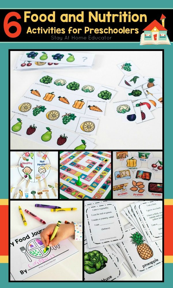 6 Printable Food and Nutrition Activities for Preschoolers