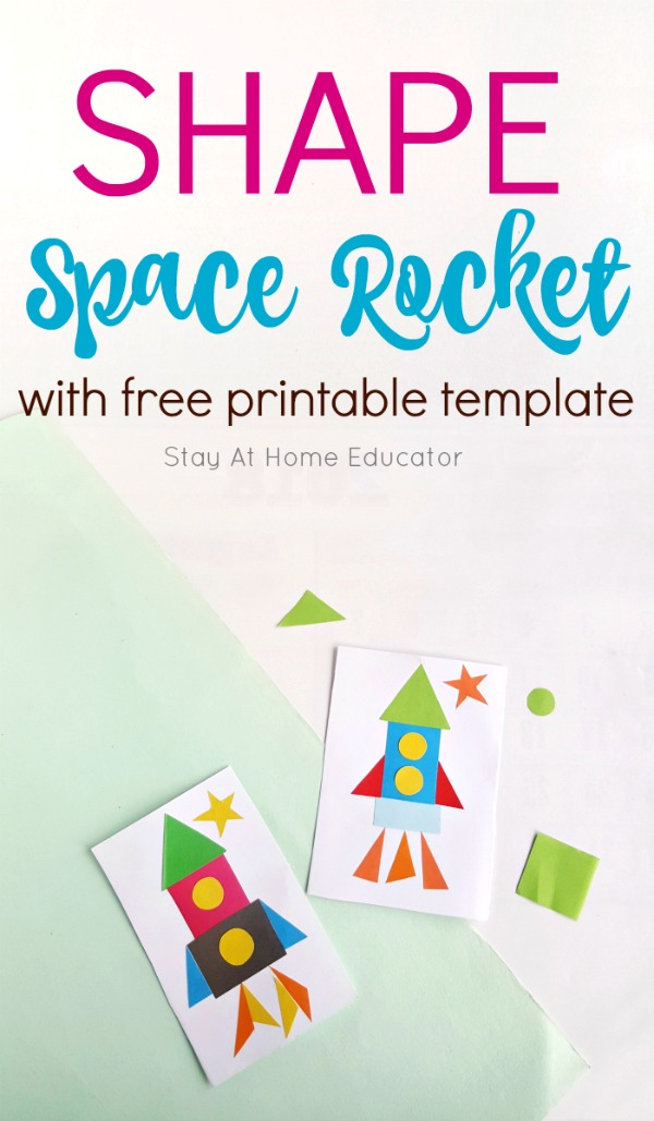 Space Rocket Ship Craft that Teaches Shapes and Geometry