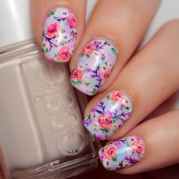 50 Flower Nail Designs for Spring \u2013 StayGlam