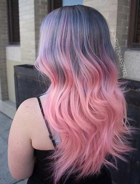 Coloured Hair Roots 21 Pastel Hair Color Ideas For 2018 Page 2 Of 2 Stayglam