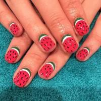 21 Cute Watermelon Nail Ideas | StayGlam