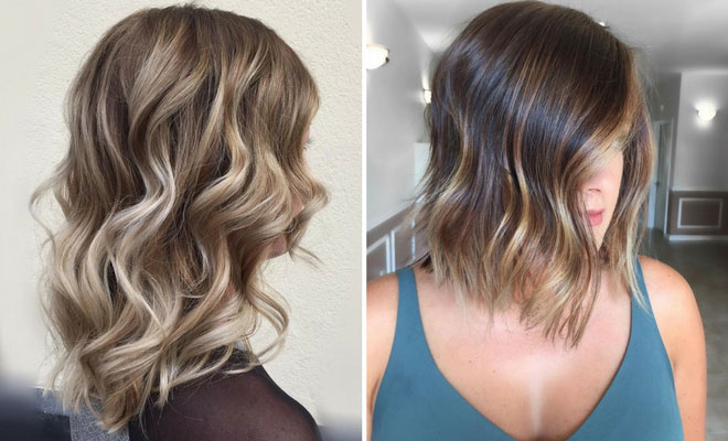 Coloured Hair Roots 27 Pretty Lob Haircut Ideas You Should Copy In 2017 Page