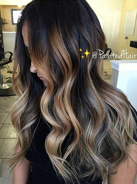 Natural Blonde Highlights On Dark Brown Hair 47 Stunning Blonde Highlights For Dark Hair Stayglam