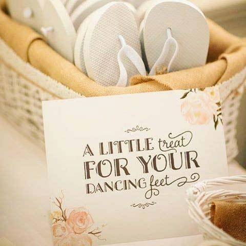 Flip Flop Dancing Shoes for Spring Wedding