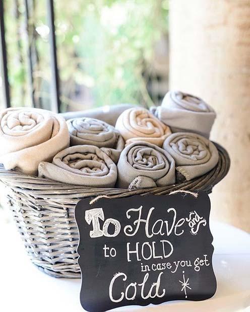 Blanket or Shawl Basket for Spring Wedding