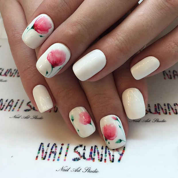21 Gorgeous Floral Nail Designs for Spring StayGlam