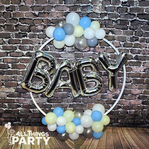 Baby Balloon Decoration for Boy's Baby Shower