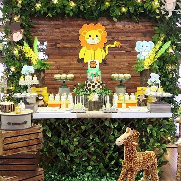 Safari Theme for Boy's Baby Shower
