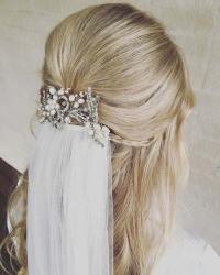 23 Gorgeous Half-Up Wedding Hair Ideas - crazyforus