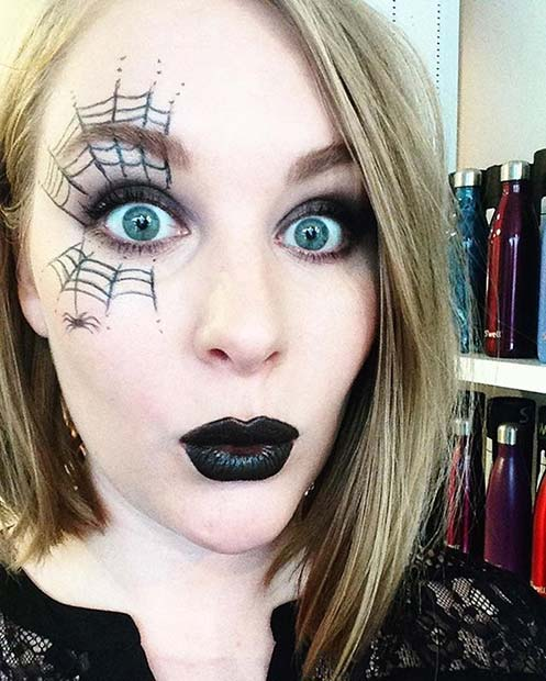 Simple Spider Web Makeup