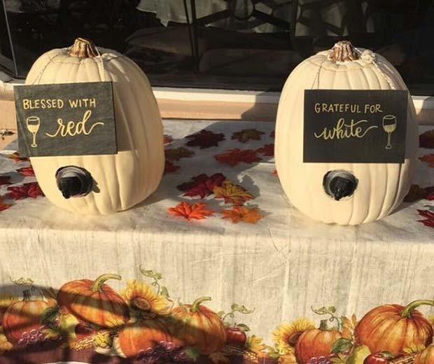 Pumpkin Wine Dispenser for Thanksgiving
