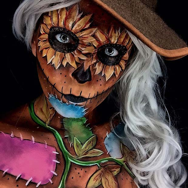 Scary Scarecrow Halloween Makeup