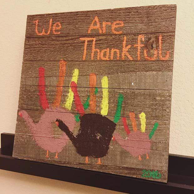 Hand Print Art for Thanksgiving