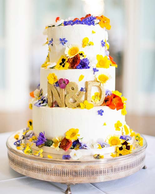 23 Stunning Spring Wedding Cakes to Inspire