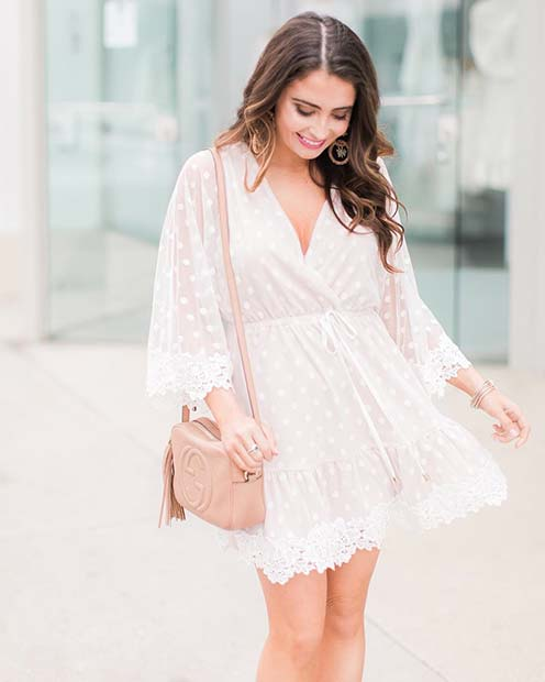 Cute All White Party Outfit Idea