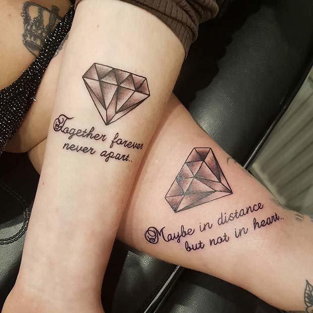 Meaningful Forever Together BFF Tattoos