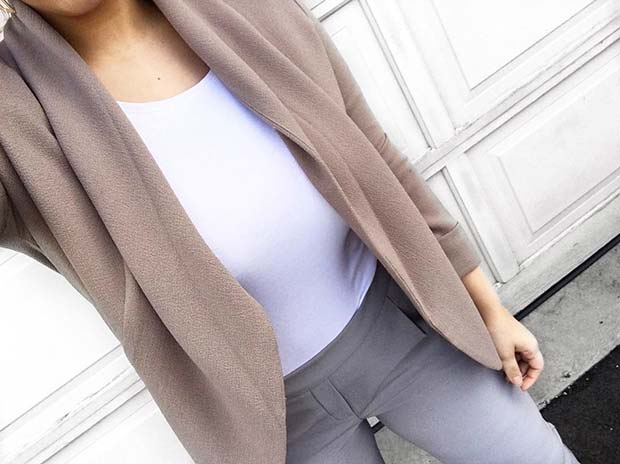 Neutral Spring Work Outfit Idea