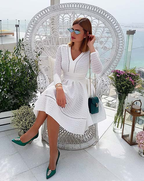 White Dress Outfit Idea for a Party