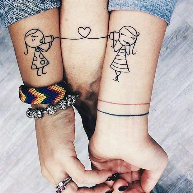 BFF Tattoo Idea for 3 Friends