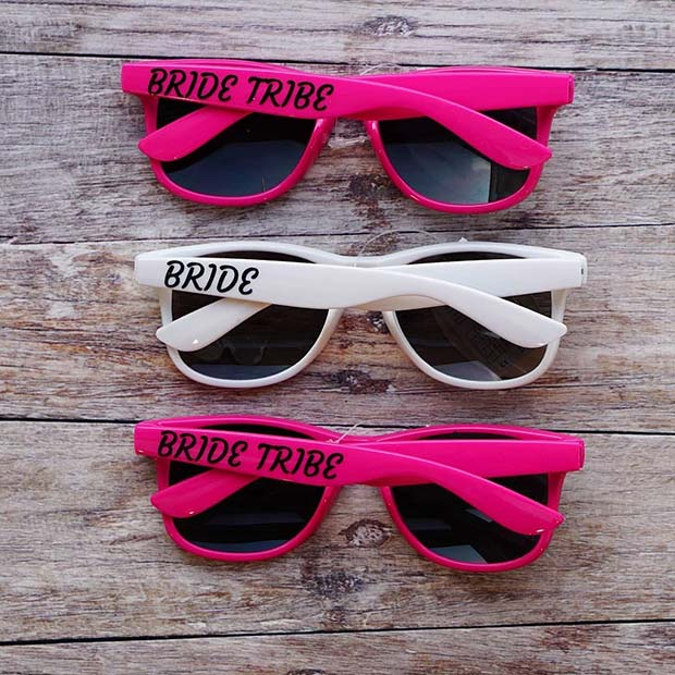 Bride Tribe Sunglasses - Cool Wedding Idea
