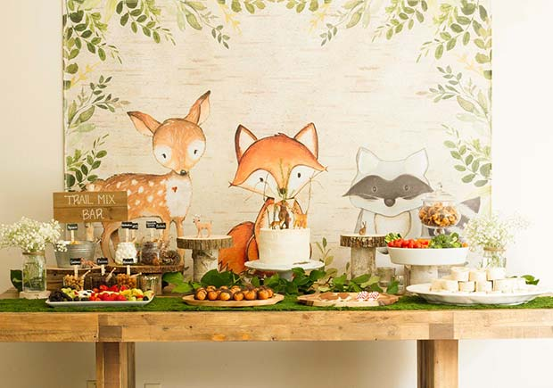 Cute Woodland Baby Shower Theme