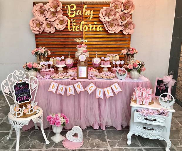 Floral Baby Shower Theme Idea