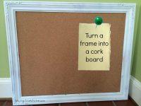 Repurpose Picture Frames into Cork Boards Tutorial - Close ...