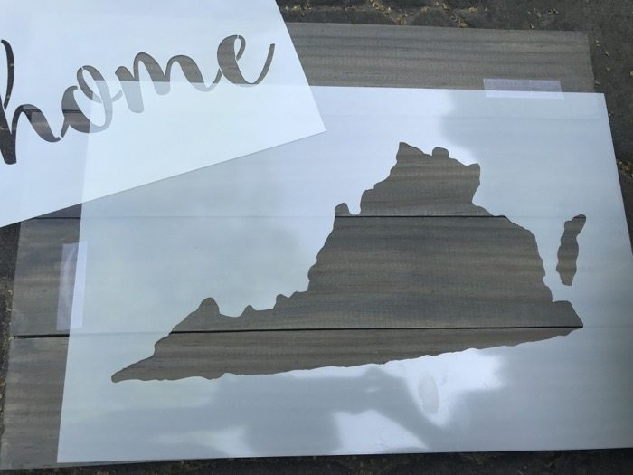 Step By Step Tutorial How to Make Wood Pallet Art (Stencil State Sign)