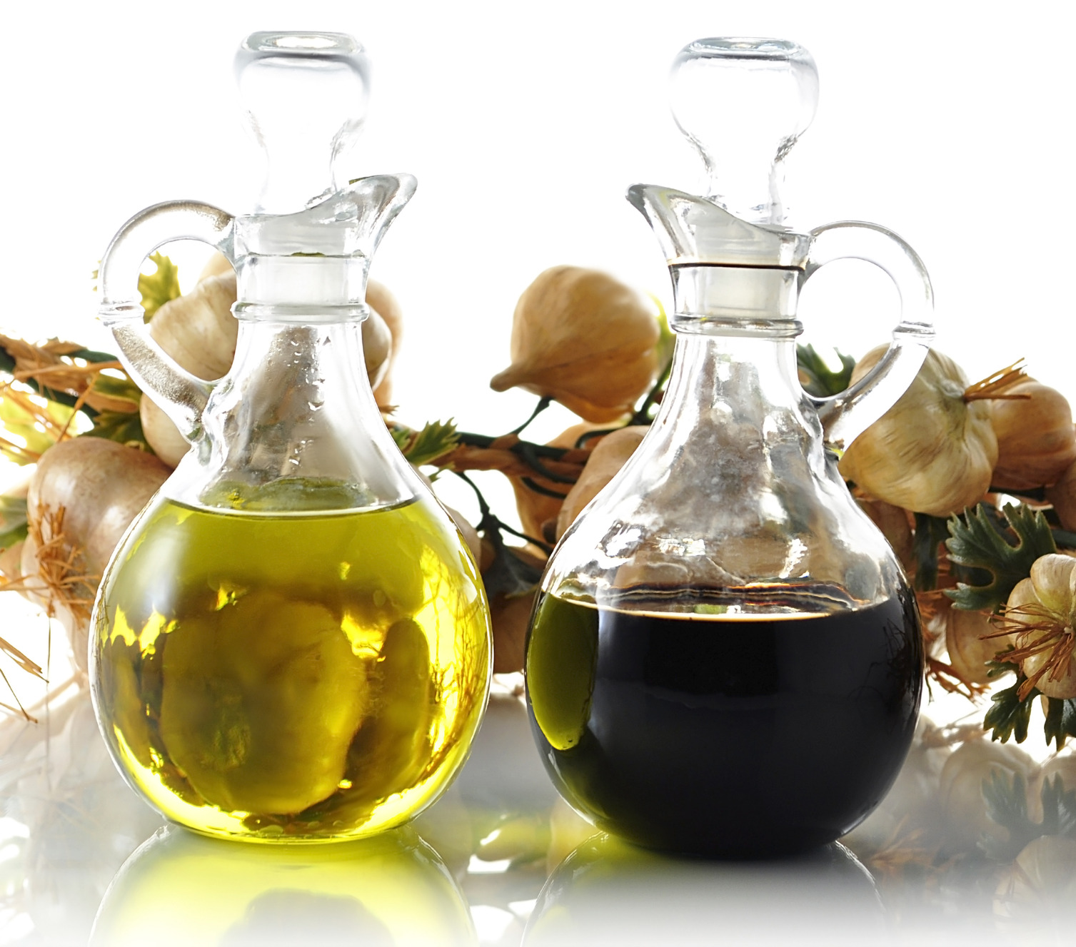 Oil And Vinegar Can Pouring On The Salad Dressing Reduce Your Risk Of