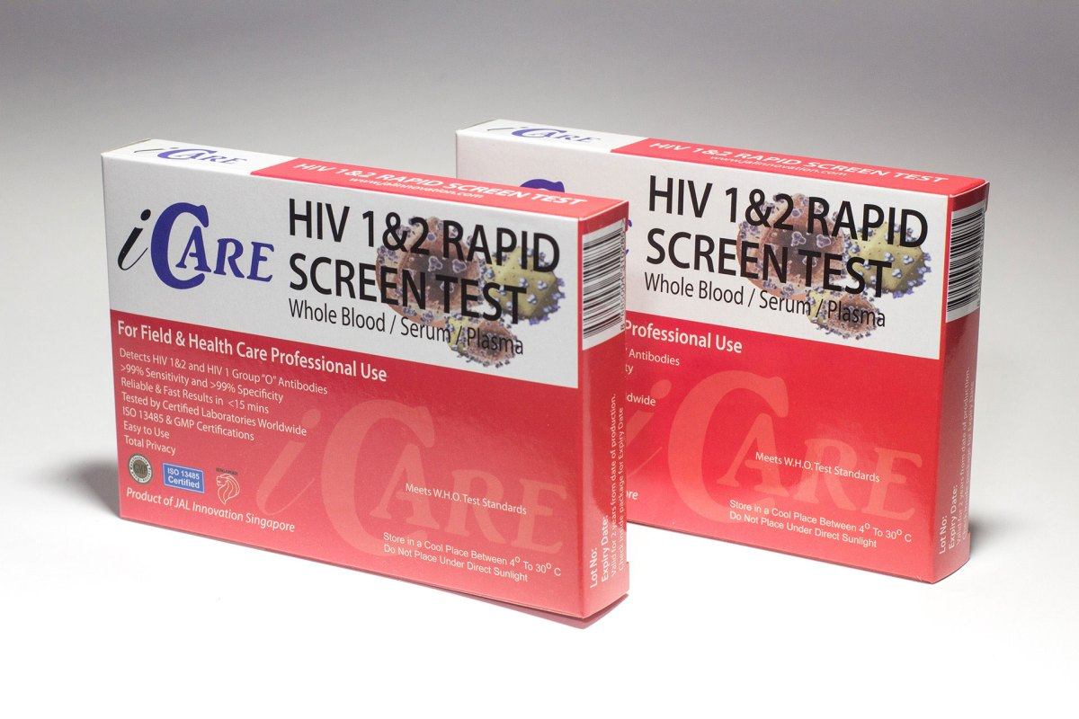 Dual Pack 2 X Icare Rapid Hiv Test Kits Blood Std