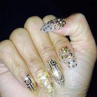 Nicki Minaj Clear, Gold Foil, Foil Stripes, Geometric ...