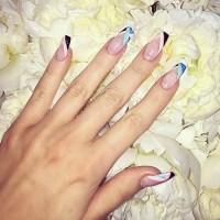 Khloe Kardashian Black, Blue, Clear, Pink Abstract ...