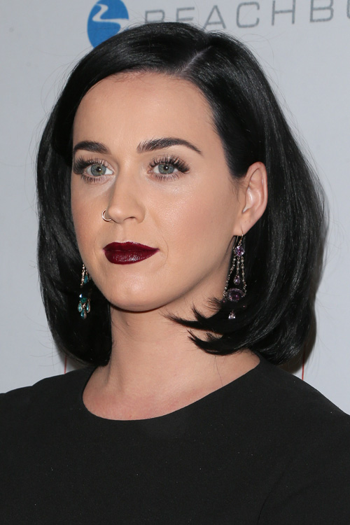 Kylie Jenner Blunt Bob Katy Perry Straight Black Blunt Cut Bob Hairstyle Steal