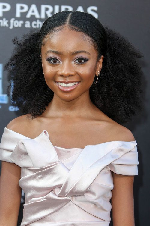 Tcl 49 Skai Jackson Curly Black Afro, Bouffant, Pinned-back