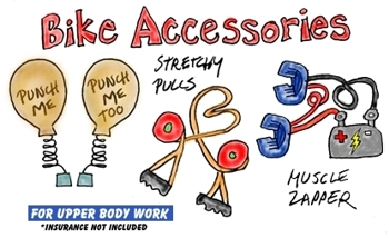 bike upper body workout apparatus