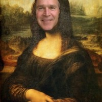 Mona Lisa George Bush