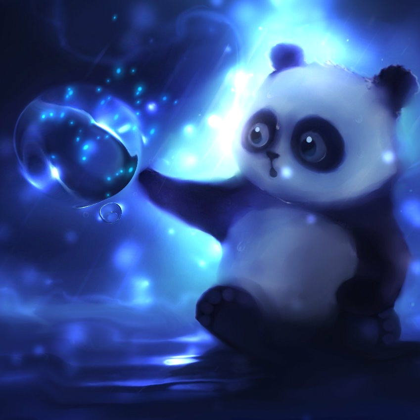 Cute Teddy Bear Live Wallpaper Free Download Cute Panda With Magic Sphere Animated Wallpaper Engine