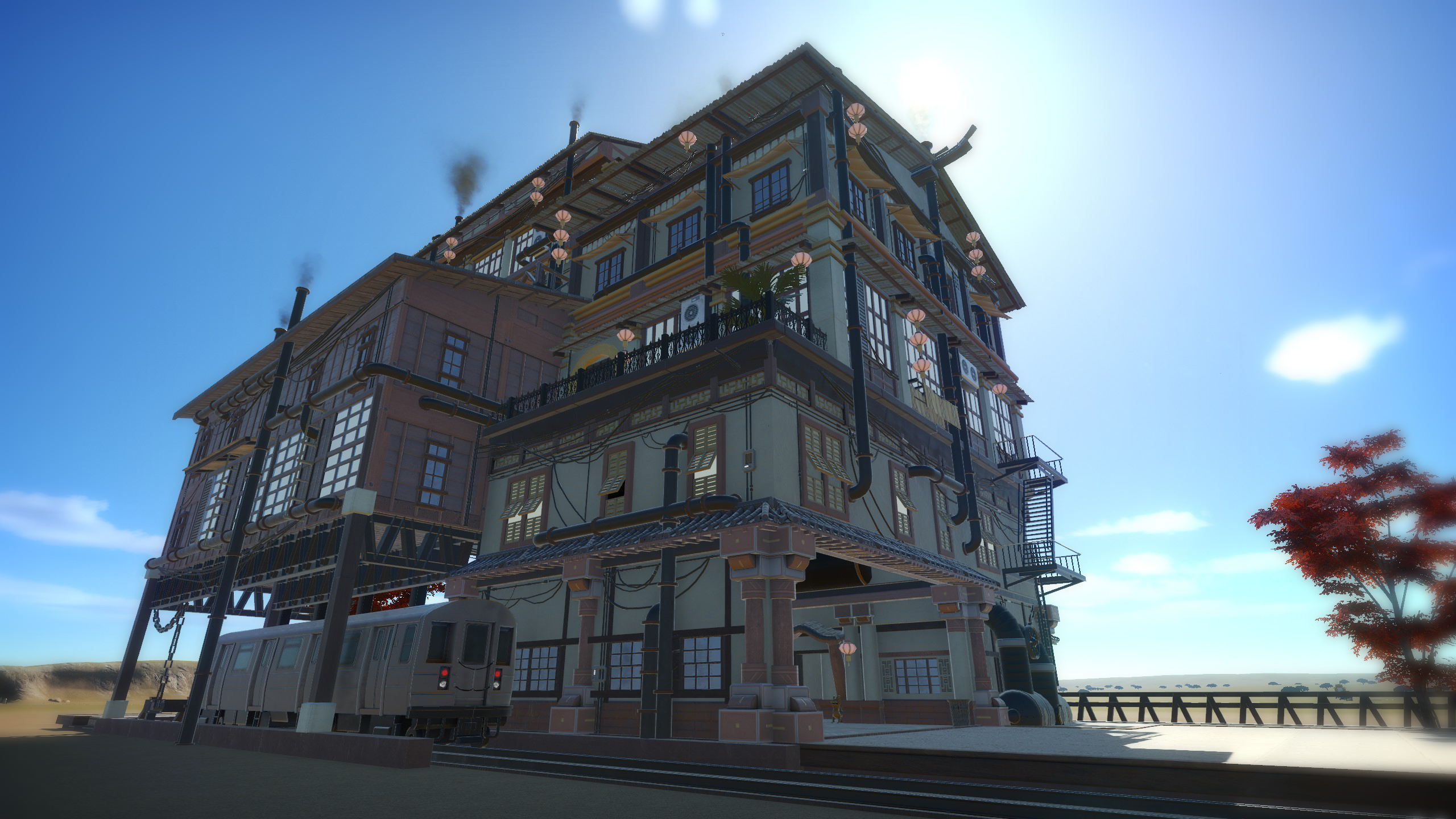 Steampunk Wohnung Steam Workshop::asian Steampunk Hotel
